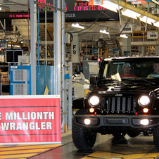 Jeep completed its millionth JK Wrangler
