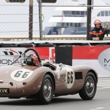 The car was based on the XK120C with a lighter body and more power