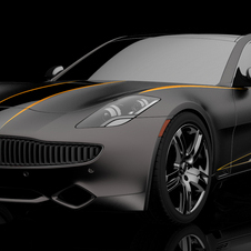 The black and orange car is just inspired by Fisker