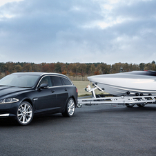 Jaguar created a concept for the XF wagon that showed it as a towing vehicle