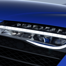 Laser headlight technology provides a white light with a color temperature of 5,500 Kelvin