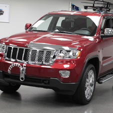 The Grand Cherokee Half and Half shows the car stock and modified