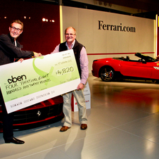 It was also for a good cause, as Ferrari donated £5 for every car in the parade.