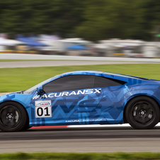 It was the first time that the NSX had been shown publicly on track