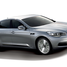 With the exception of the Kia nose, the styling is similar to the BMW 7-series