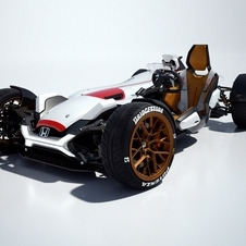 Honda states that the design of the Project 2&4 was inspired by the legendary 1965 Fórmula 1 Honda RA272