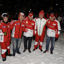 The entire team were at the event for skiing and interacting with the media