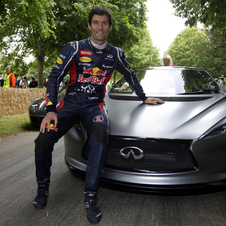 Mark Webber drove the car at the Goodwood Festival of Speed