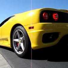 Yellow Ferrari 360 Modena F1 Start Up & Accelerate