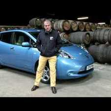 Nissan Leaf at the Isle of Islay Whisky Distillery