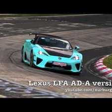 Lexus LFA AD-A testing HARD at the Nürburgring Nordschleife