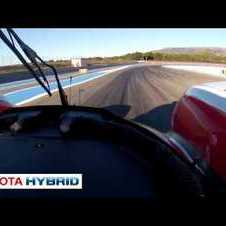 Toyota TS030 HYBRID - On-board (pit exit and track)
